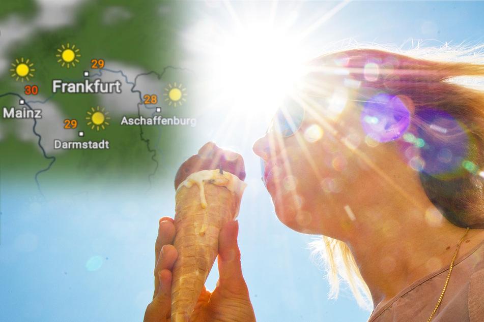Bereits am Dienstag sind in Hessen bis zu 33 Grad möglich (Symbolbild).