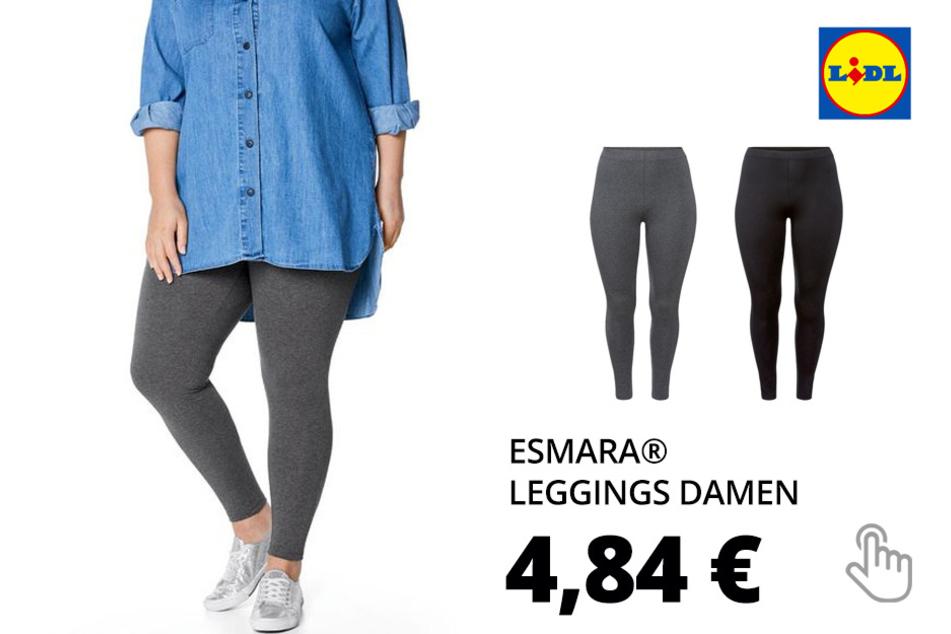 ESMARA® Leggings Damen, mit Baumwolle und Elasthan