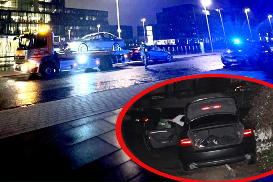 Polizei sprengt illegale Autorennen: Eines endet mit heftigem Crash und Stromausfall!