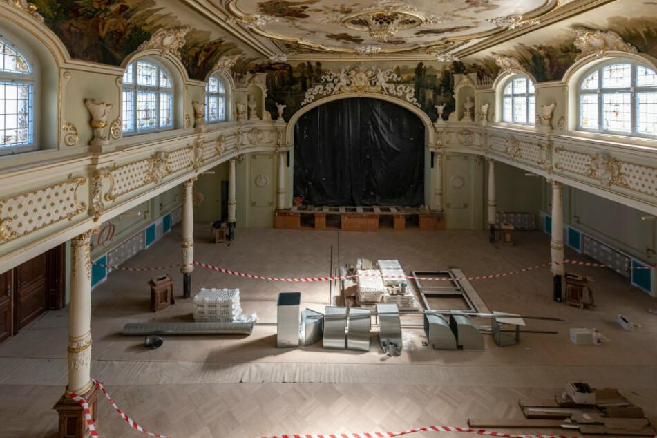 Prunksaal in Hainichen: Historischer Festraum am Markt saniert