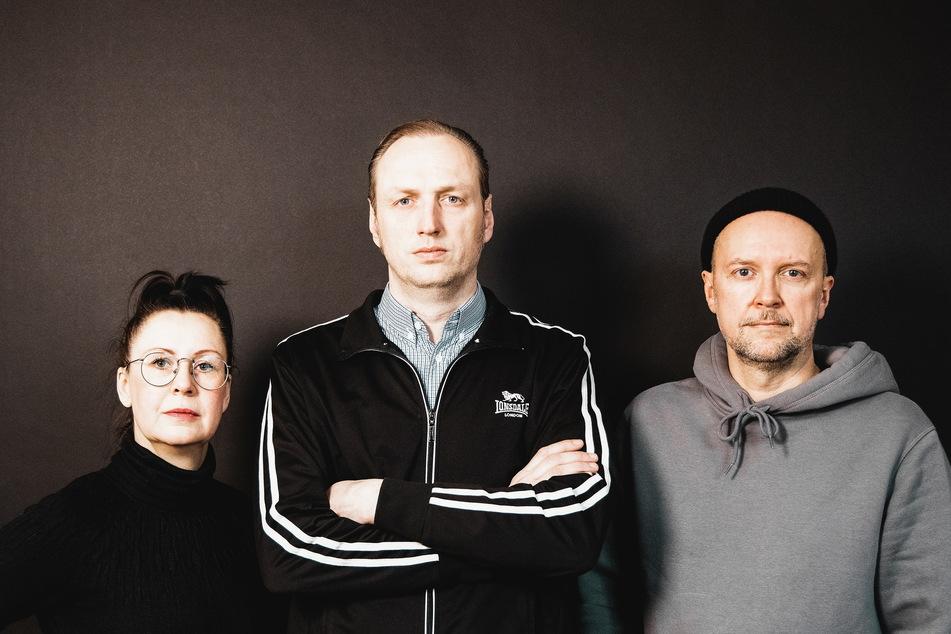 """Yvonne Preibisch (v.l.), Thomas Kahl (43) und Maik Selbmann (47) starteten die Chemnitzer """"Kulturgesichter""""."""