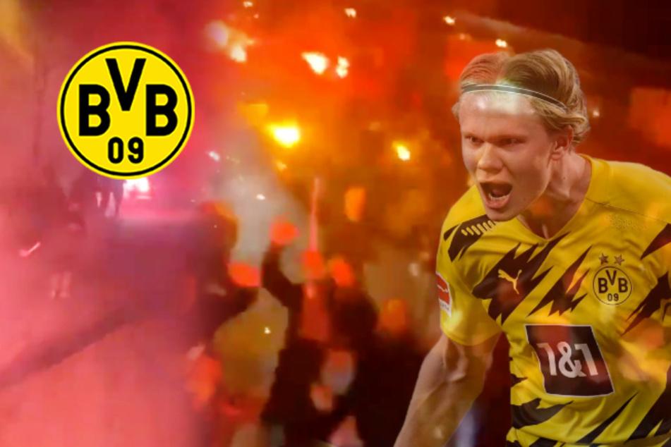 BVB-Fans mit Ekstase-Empfang für ihre Derby-Helden: Droht nun ein Nachspiel vonseiten der DFL?