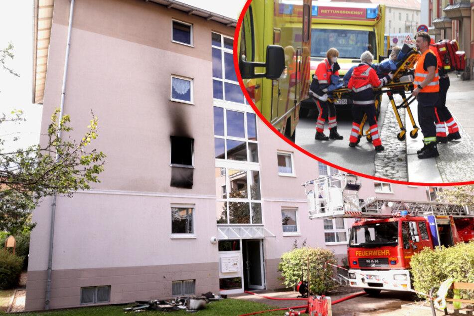 Dresden: Feuerwehreinsatz in Dresden-Mickten: Drei Verletzte bei Küchenbrand