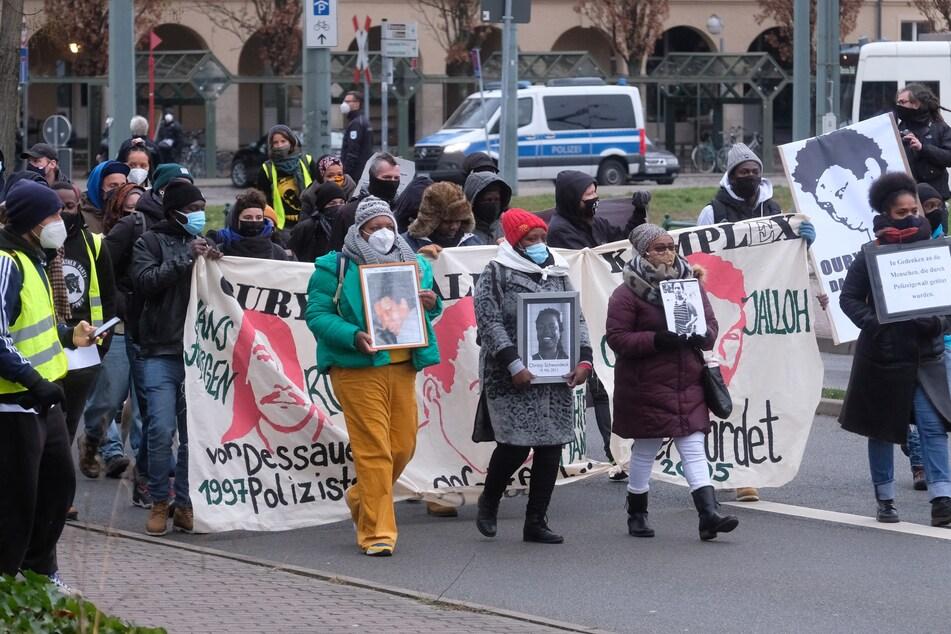 Auch in Dessau-Roßlau wurde am Donnerstag demonstriert.