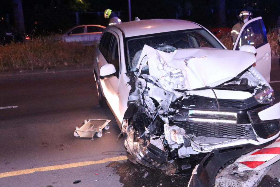 Sein Auto erlitt durch den Zusammenprall einen erheblichen Schaden.