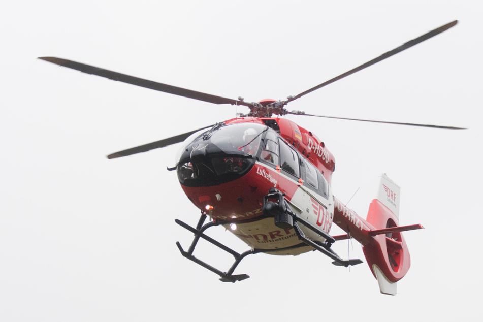 Der 59-Jährige kam per Hubschrauber ins Krankenhaus. (Symbolbild)