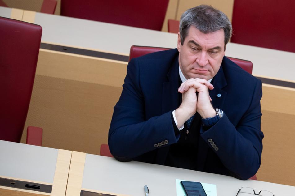 CSU-Chef Söder: Sein Vorschlag mit einer dunkelroten Warnstufe und neuen Beschränkungen gefiel nicht jedem.