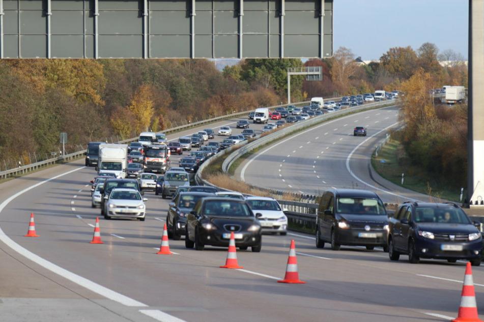 Die A4 musste in Richtung Chemnitz kurzzeitig gesperrt werden.