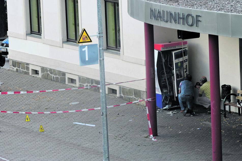 Völlig demoliert wurde der Ticket-Automat in Naunhof bei der Sprengung im September 2018.