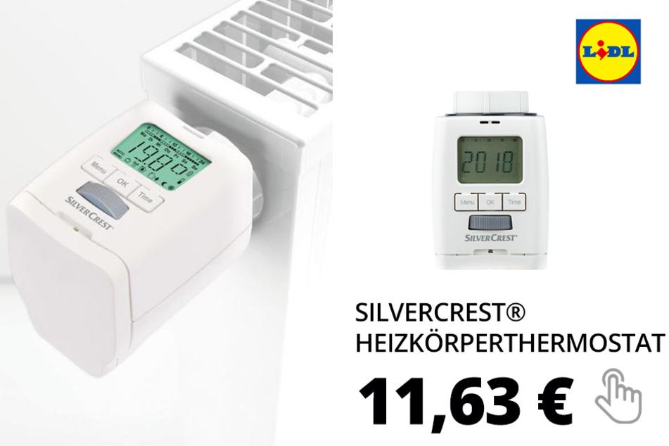 SILVERCREST® Heizkörperthermostat, mit 3 Adaptern, Kindersicherung, Fenster-offen-Erkennung