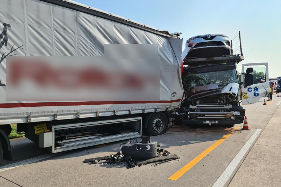 Unfall A5: Lkw-Unfall bei Karlsruhe: Langer Stau und Sperrung auf der A5