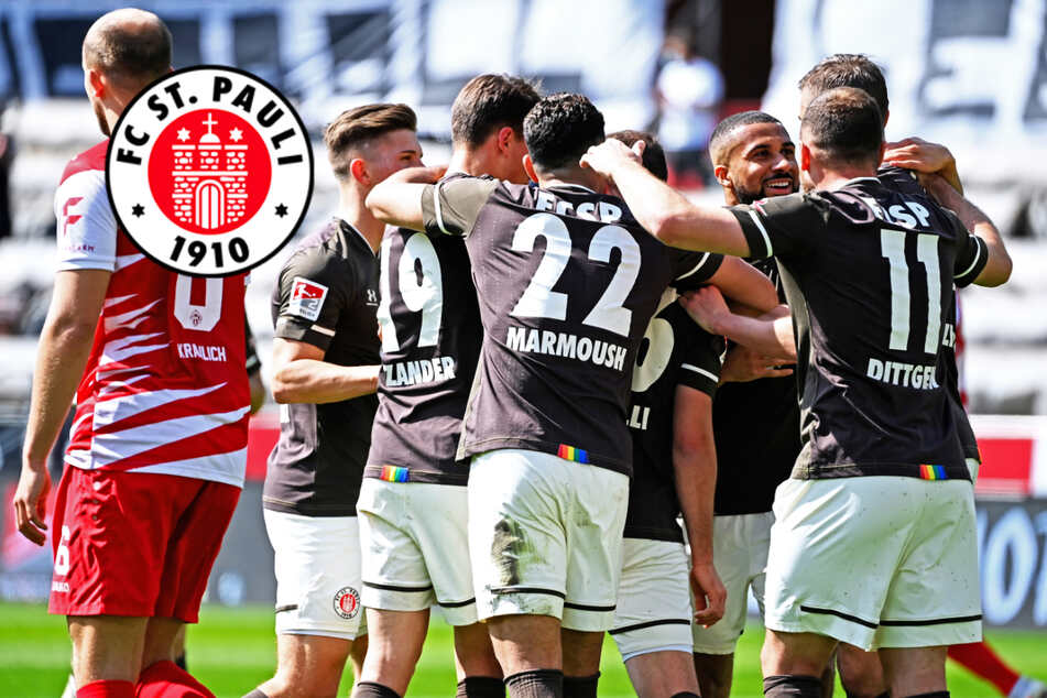 FC St. Pauli wie im Rausch: Kiezkicker schießen Würzburg aus dem Stadion!