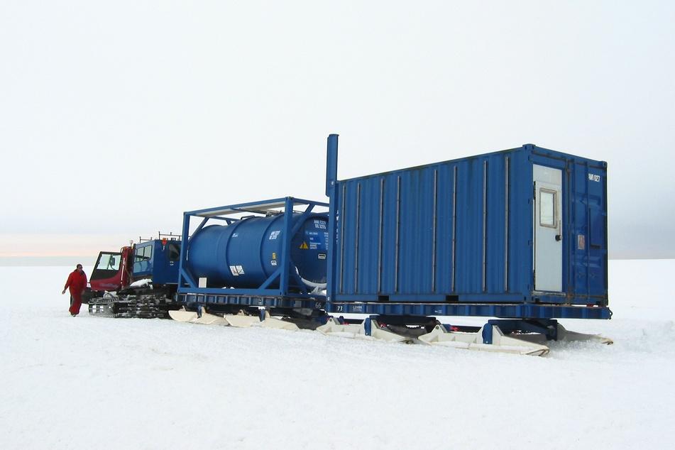 Die Schlitten der Firma Lehmann UMT haben sich in der Antarktis bereits bei widrigsten Bedingungen bewährt.