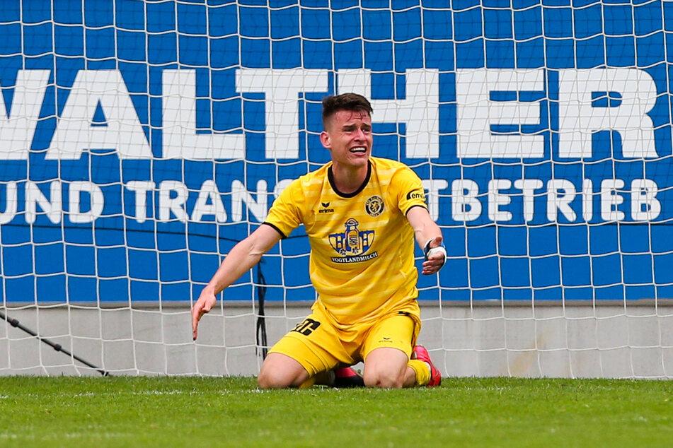 Das Viertelfinale im Sachsenpokal beim CFC war der einzige Pflichtspieleinsatz für Florian Hansch (25) im Auerbacher Trikot.