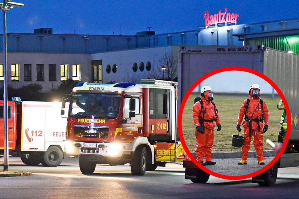 Dutzende Feuerwehrleute in Gefahrguteinsatz am Bautz'ner-Werk!