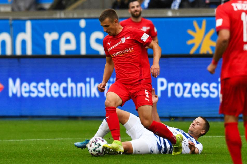 Maurice Hehne und der FSV Zwickau holten beim Aufstiegskandidaten MSV Duisburg einen Auswärtspunkt.