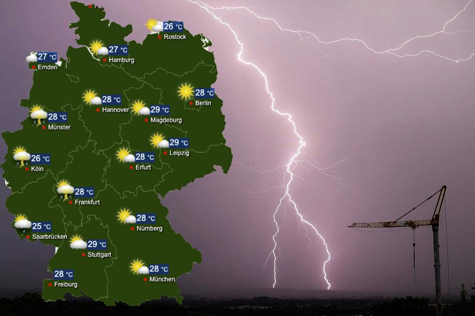 Ab Samstag wird es wieder ungemütlicher in Deutschland. Am Wochenende drohen vor allem im Westen Deutschlands wieder Starkregen und Gewitter.