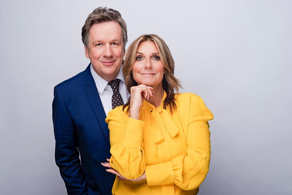 Jörg Kachelmann (61) und Kim Fisher (50) moderierten das Riverboat live im Studio.