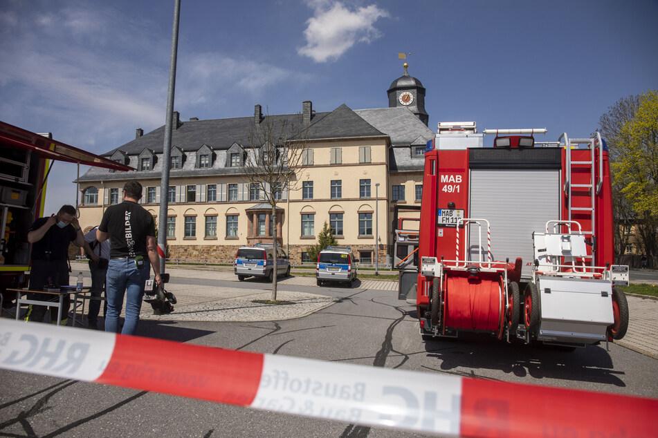 Auch im Amtsgericht in Marienberg ging am Dienstag eine verdächtige Postsendung ein. Feuerwehr und Polizei waren vor Ort.