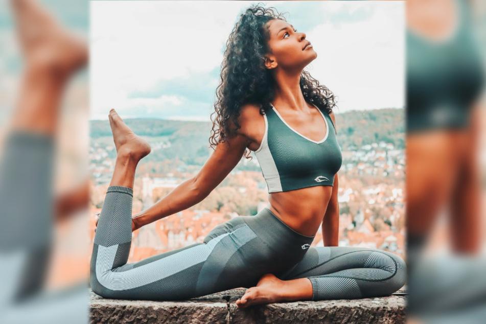 Model Lijana Kaggwa (24) ist sehr beweglich: Sie tanzt und praktiziert Yoga.