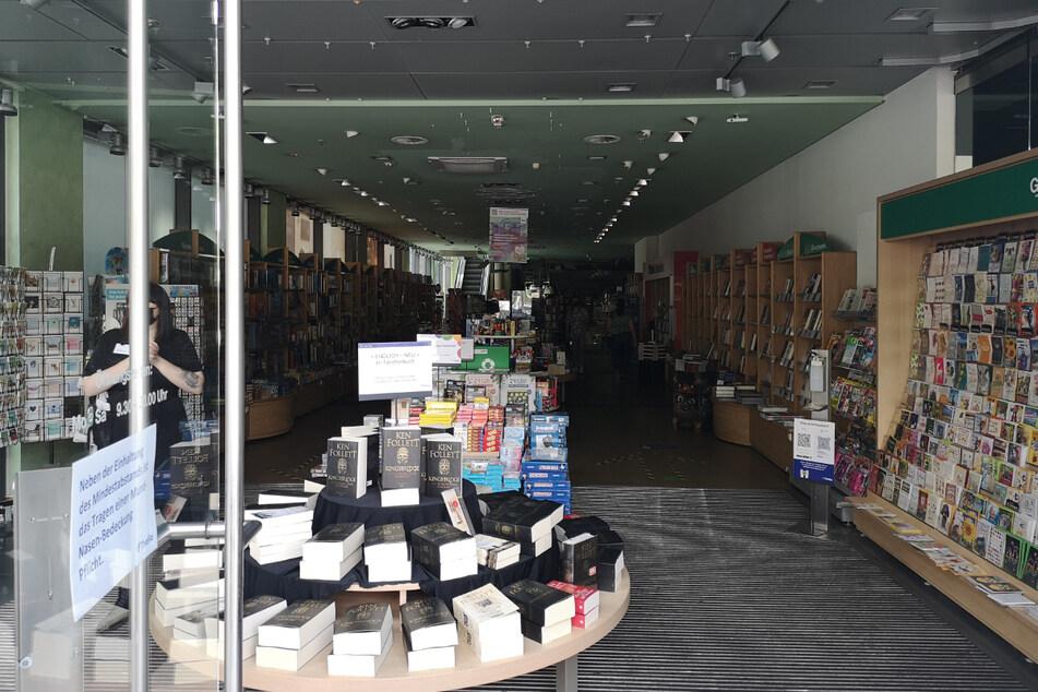 Auch in diesem Dresdner Buchladen gingen plötzlich alle Lichter aus.