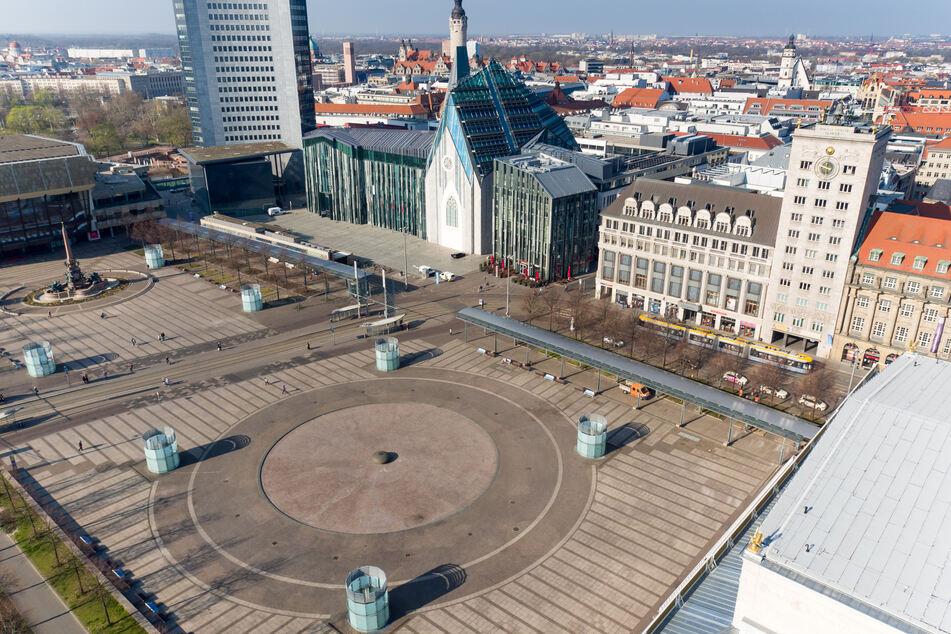 Blick auf den Leipziger Augustusplatz.
