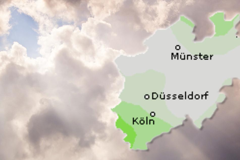 Insbesondere in der Mitte von NRW ziehen im Tagesverlauf mehr Wolken auf als im Süden und Norden.