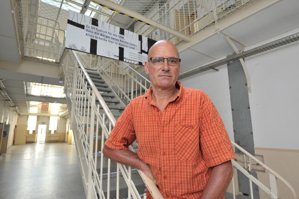 Radfahrer Wolfgang Lötzsch (67) saß 1977 im Kaßberg-Gefängnis. Er hielt sich dort mit einer Million Kniebeugen fit.
