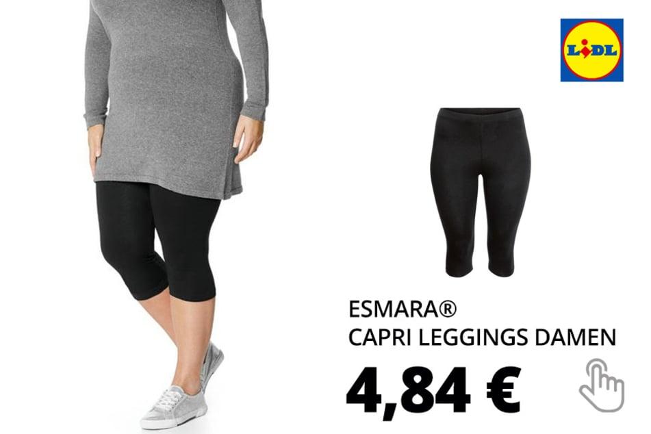 ESMARA® Capri Leggings Damen, aus Baumwolle und Elasthan