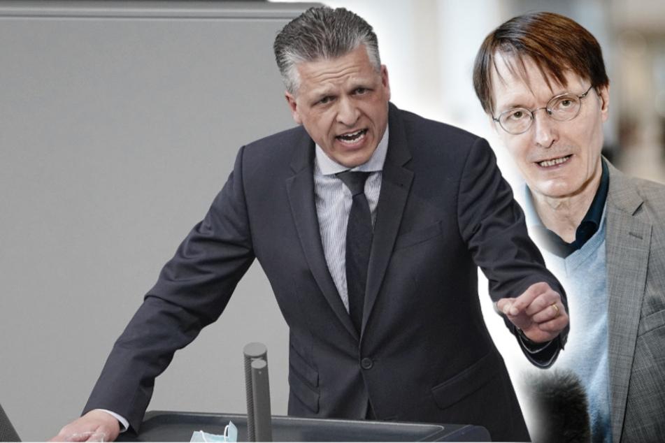 Unions-Fraktionsvize Thorsten Frei (47, CDU, li.) und SPD-Gesundheitsexperte Karl Lauterbach (58, SPD, re.).