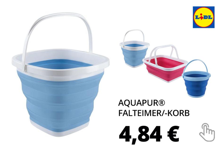 AQUAPUR® Falteimer/-korb