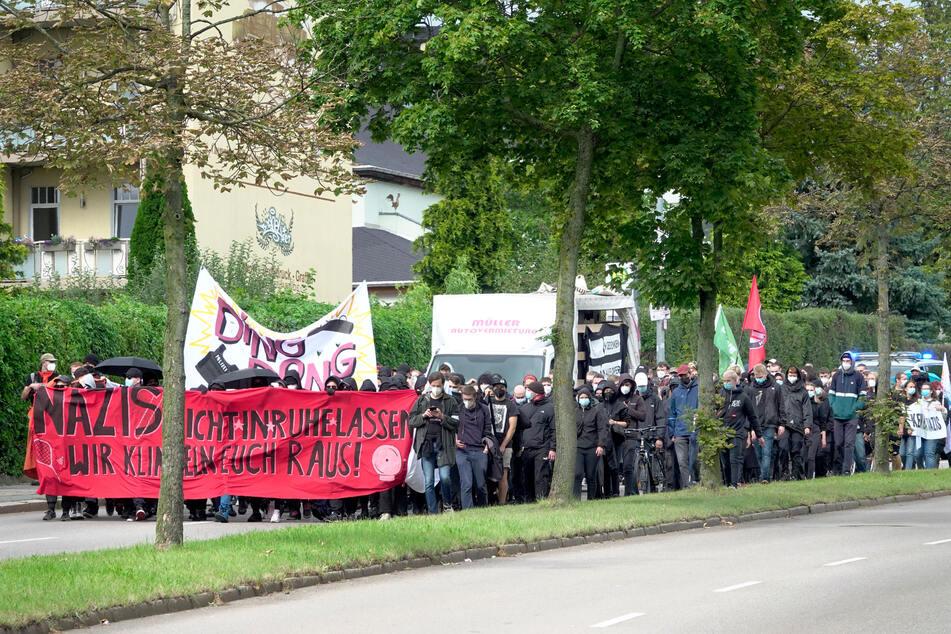 Mehrere Hundert Demonstranten zogen im Mai durch Chemnitz.