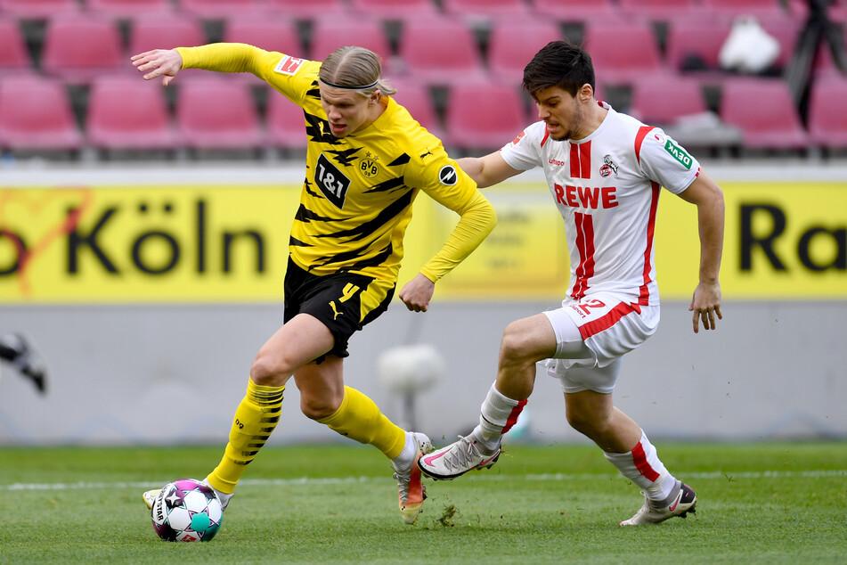 Jorge Meré (24, r.) spielt seit 2017 für den 1. FC Köln, doch nun will er den Verein offenbar Richtung Spanien verlassen.
