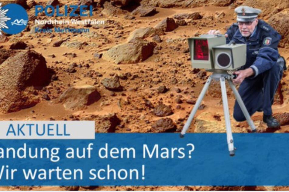 Lacher im Netz: Deutsche Polizei will NASA-Mission auf dem Mars kontrollieren!
