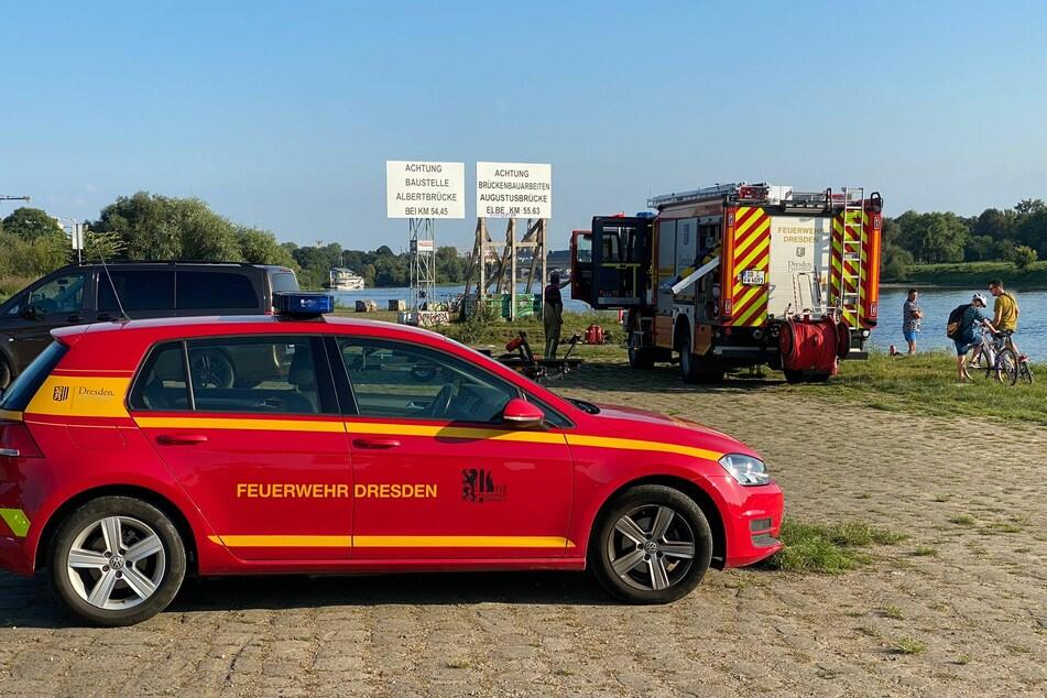 Die Feuerwehr Dresden ist noch immer vor Ort.