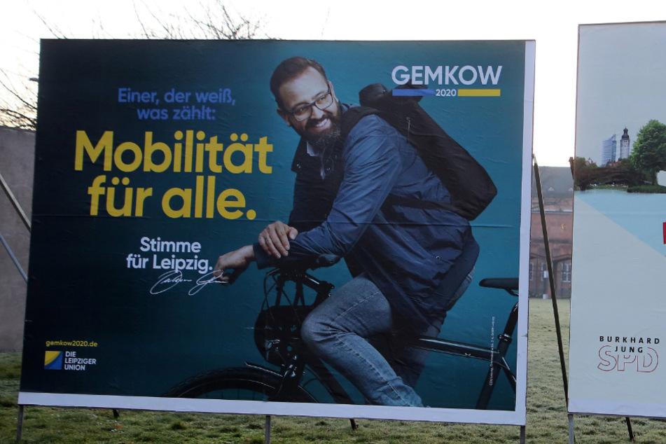 Wahlkampf mit Fahrrad: Anfang 2020 trat Wissenschaftsminister Sebastian Gemkow (41) als CDU-Kandidat bei der Leipziger OB-Wahl an.