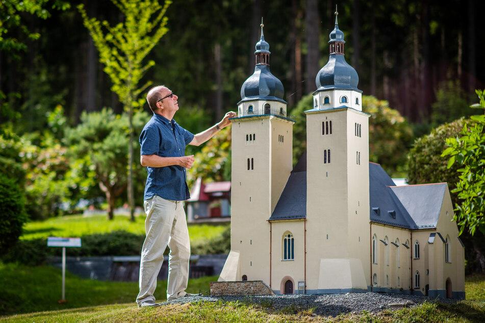 Das höchste Modell im Klein-Vogtland ist die Johanniskirche aus Plauen.