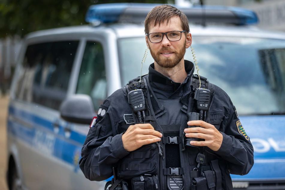 Polizeioberkommissar Patrick Zabel (33) möchte beitragen zu einer sicheren Innenstadt.