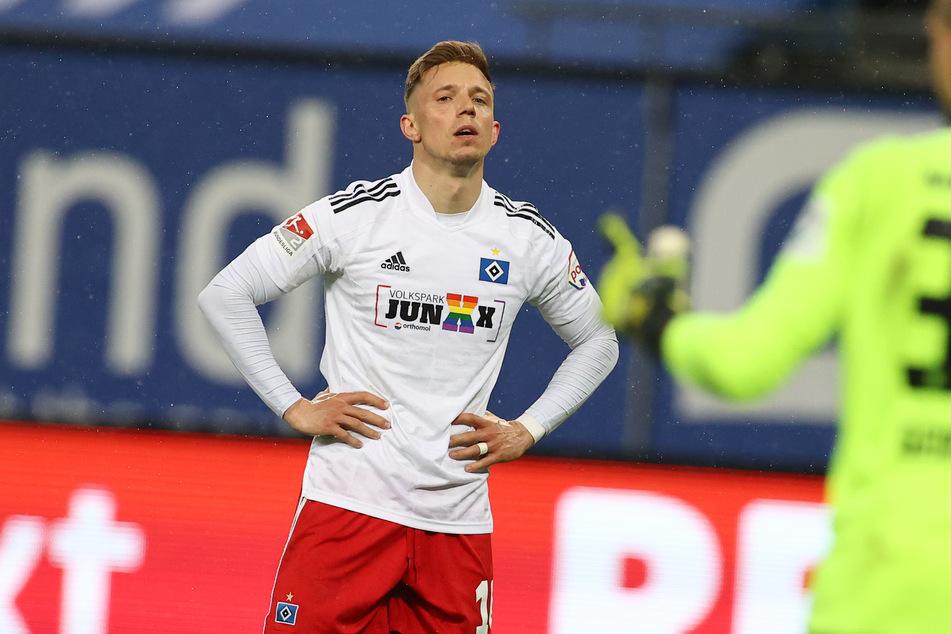 Sonny Kittel (28) wird dem Hamburger SV in den nächsten Wochen nicht zur Verfügung stehen. Der 28-Jährige hat sich im Testspiel gegen Innsbruck verletzt. (Archivfoto)