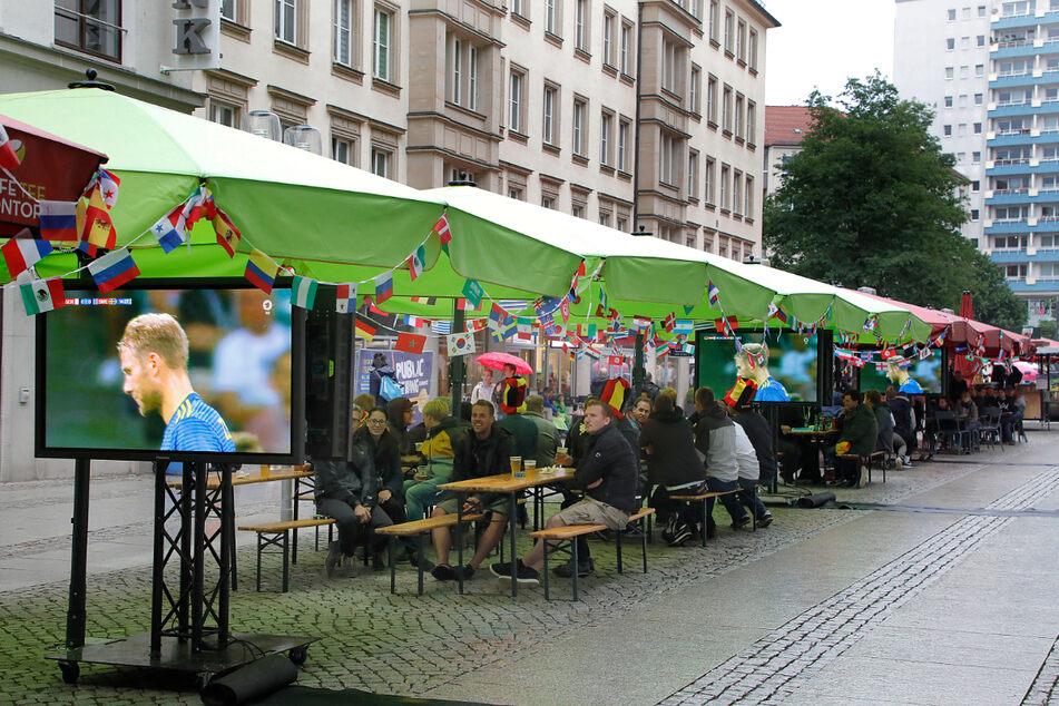 So sah es zur Fußball-WM 2018 in Chemnitz aus. Auch zur am Freitag beginnenden EM wird Public Viewing trotz Corona möglich sein.