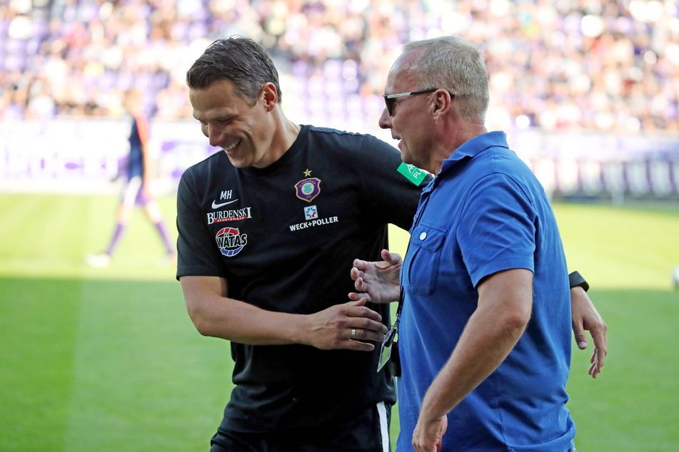 FCE-Boss Helge Leonhardt (62, r.) setzt bei der Suche nach einem neuen Cheftrainer auf eine interne Lösung - und die soll Marc Hensel (35) heißen.