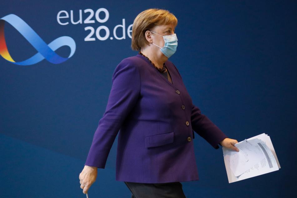 Angela Merkel hofft mit Impfungen auf einen Sieg über das Coronavirus