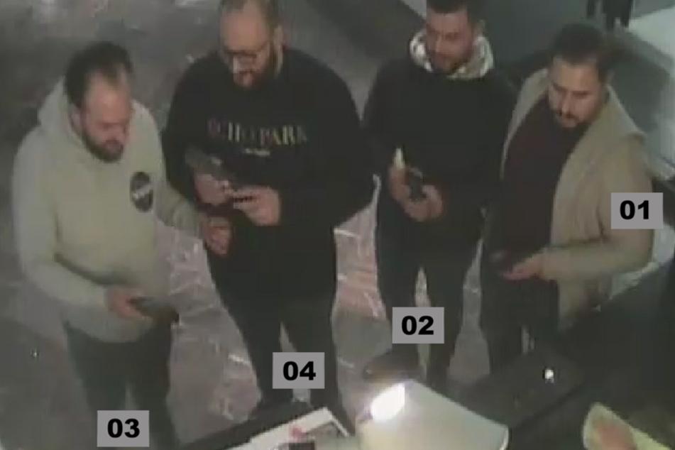 Diese vier Männer sollen den Juwelenraub vorbereitet haben.