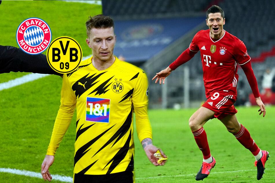 """Lewandowski glänzt für FC Bayern, BVB-Kapitän Reus wütet wegen Gegentor: """"Klares Foulspiel""""!"""