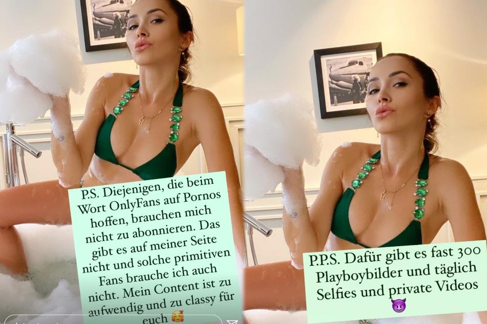 In zwei weiteren Storys vom Dienstagabend klärte Anastasiya Avilova (32) darüber auf, was die Fans auf ihren OnlyFans-Profilen erwartet.