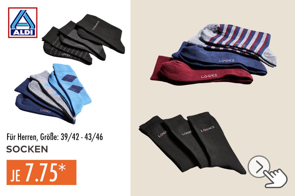 Socken von Wolfgang Joop für Herren in den Größen 39/42–43/46, 3 Paar für 7,75 Euro