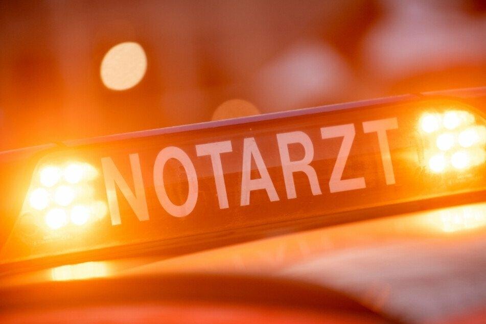 Balkon bricht durch: Mann bei Arbeitsunfall in Chemnitz schwer verletzt