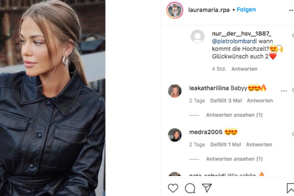 Die Fans fragen Pietro Lombardi (28) bereits nach dem Hochzeitstermin von ihm und Influencerin Laura Maria.
