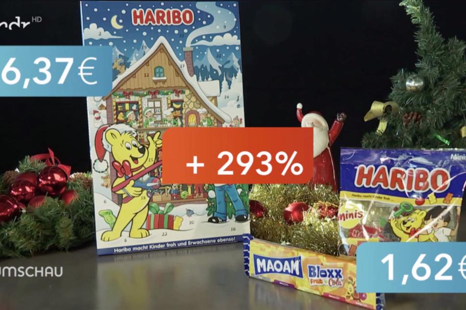 Knapp 300 Prozent mehr kostet der Haribo-Adventskalender im Vergleich zum Inhalt der herkömmlichen Verpackungen.