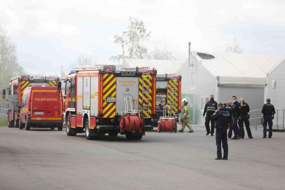 Dresden: Feuerwehreinsatz auf der Bremer Straße: Brand in Flüchtlingsunterkunft!